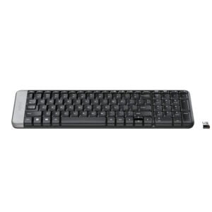 Logitech K230 Compact Wireless Keyboard for Windows, 2.4GHz Wireless with USB Unifying Receiver, Space-Saving Design, 2-Year Battery Life, PC/Laptop- Black-0