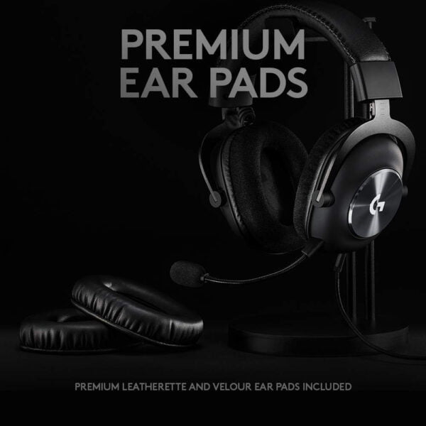Logitech G PRO X Gaming Headset with Blue VO!CE, DTS Headphone:X 7.1 and 50 mm PRO-G Drivers (for PC, PS4, Switch, Xbox One, VR) - Black-9929