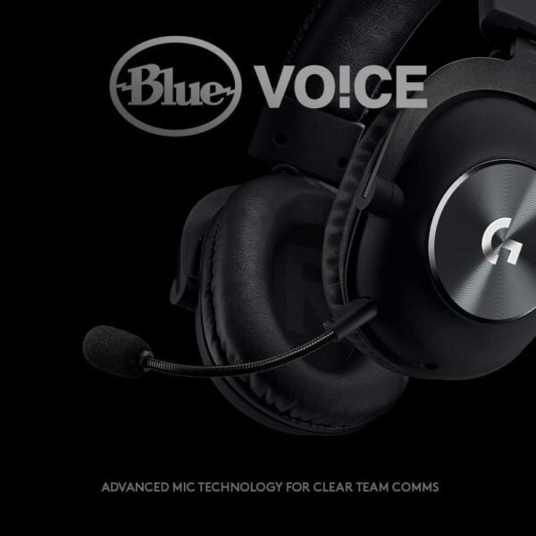 Logitech G PRO X Gaming Headset with Blue VO!CE, DTS Headphone:X 7.1 and 50 mm PRO-G Drivers (for PC, PS4, Switch, Xbox One, VR) - Black-9930