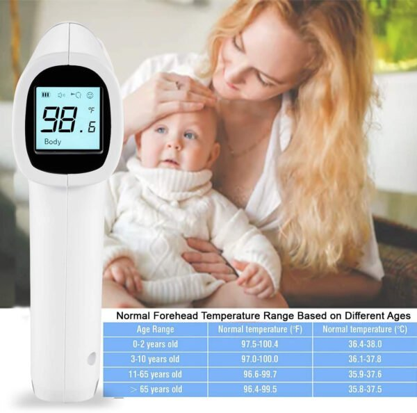 Zoook Infrared Temperature Forehead Medical Digital Non Contact Infrared (IR) Thermometer-9894