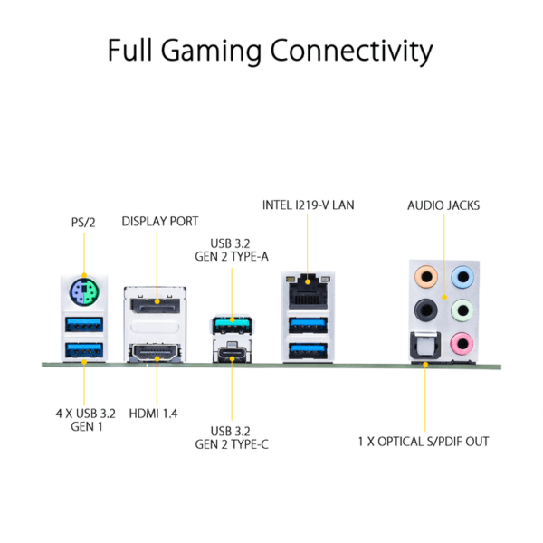 Asus TUF GAMING Z490-PLUS Intel® Z490 (LGA 1200) ATX gaming motherboard with M.2, 14 DrMOS power stages, Intel® 1Gb LAN, HDMI, DisplayPort, SATA 6 Gbps, USB 3.2 Gen 2 ports, Thunderbolt™ 3 support, and Aura Sync RGB lighting-9960