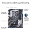Asus PRIME Z490-P Intel® Z490 (LGA 1200) ATX motherboard with dual M.2, 11 DrMOS power stages, 1 Gb Ethernet, HDMI, DisplayPort, SATA 6Gbps, USB 3.2 Gen 2, Thunderbolt™ 3 support, and Aura Sync RGB Lighting-9853