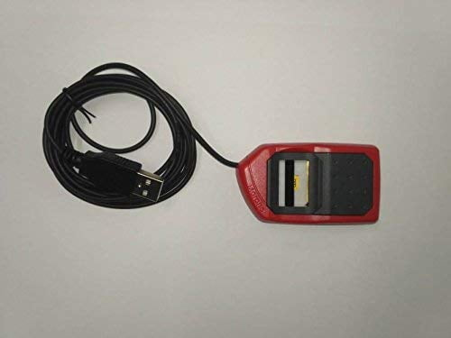 Safran Morpho Icons MSO 1300 E3 Biometric Fingerprint Scanner with RD Service (Red and Black)-10017