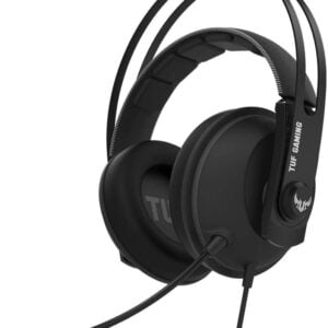 Asus TUF Gaming H7 Core PC and PS4 gaming headset and upgraded ear cushions for eyewear comfort-0