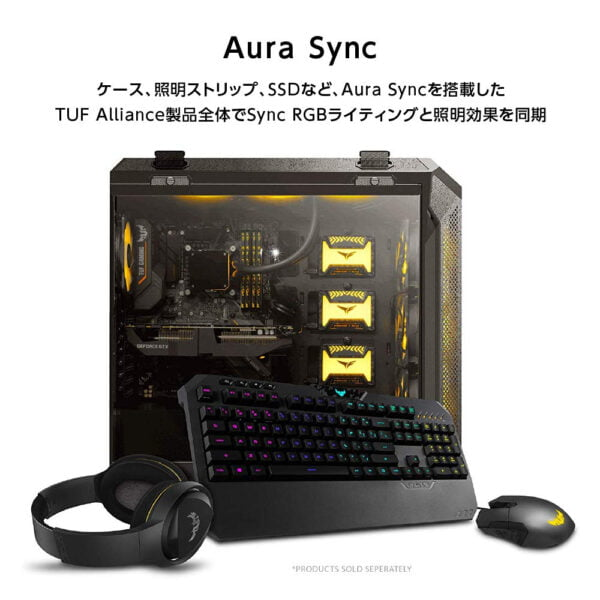 ASUS TUF Gaming K5 RGB Keyboard with Tactile Mech-Brane Key switches, Specialized Coating for Extended Durability, Spill-Resistance and Aura Sync Lighting-10032
