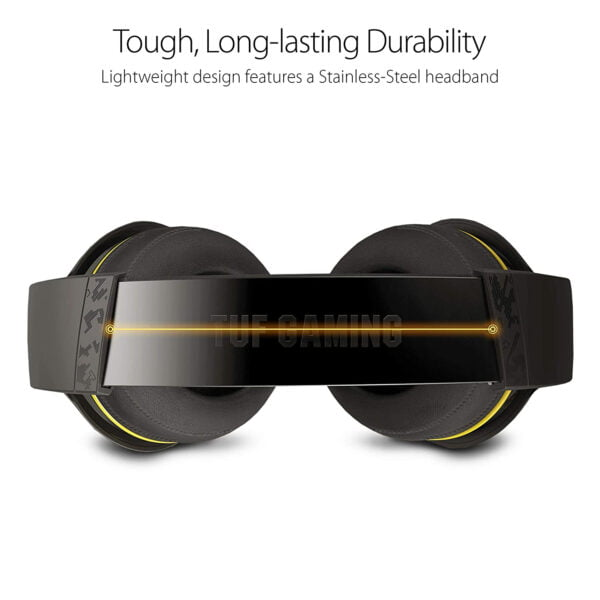 Asus TUF Gaming H5 with on-Board 7.1 Virtual Surround and Durable Stainless- Steel Headband Design for Excellent PC and PS4 Gaming Experiences.-9998