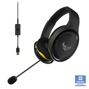 Asus TUF Gaming H5 with on-Board 7.1 Virtual Surround and Durable Stainless- Steel Headband Design for Excellent PC and PS4 Gaming Experiences.-0