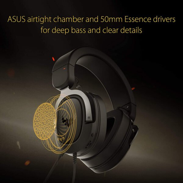 ASUS TUF H3 Gaming Headset H3 – Discord, TeamSpeak Certified |7.1 Surround Sound | Gaming Headphones with Boom Microphone for PC, Playstation 4, Nintendo Switch, Xbox One, Mobile Devices-9988