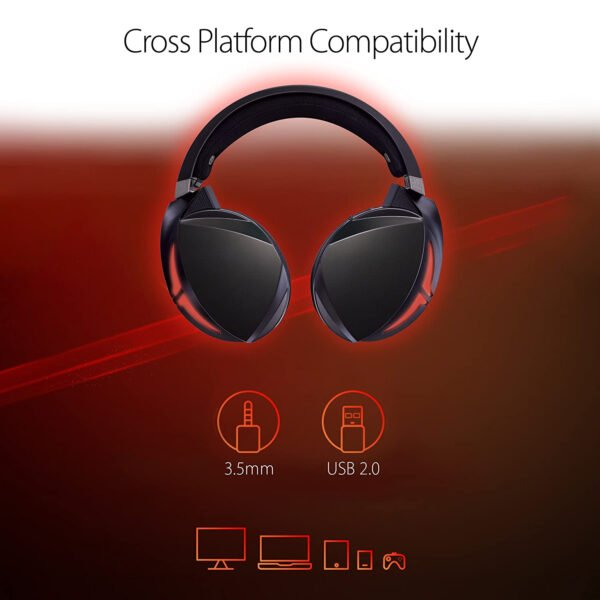 ASUS ROG Strix Fusion 300 Virtual 7.1 LED Gaming Headset with Microphone for PC/Mobile/Console-10025