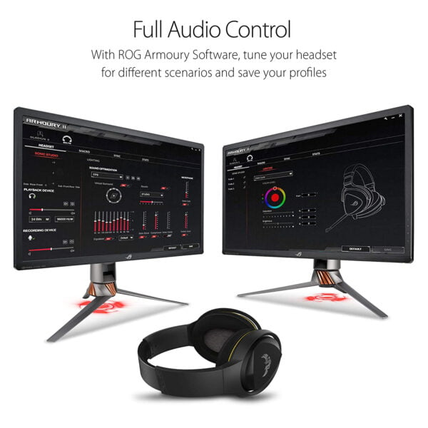 Asus TUF Gaming H5 with on-Board 7.1 Virtual Surround and Durable Stainless- Steel Headband Design for Excellent PC and PS4 Gaming Experiences.-10000