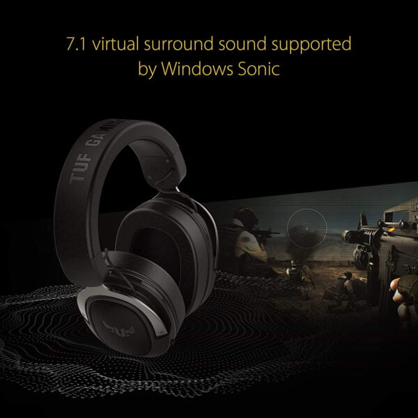 ASUS TUF H3 Gaming Headset H3 – Discord, TeamSpeak Certified |7.1 Surround Sound | Gaming Headphones with Boom Microphone for PC, Playstation 4, Nintendo Switch, Xbox One, Mobile Devices-9989