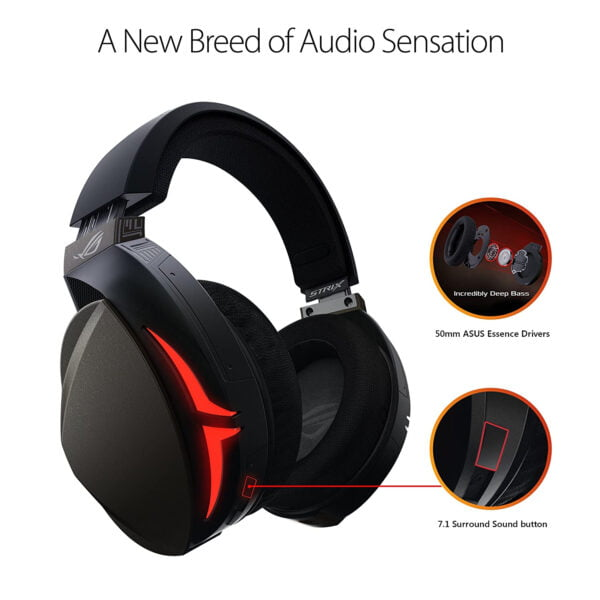 ASUS ROG Strix Fusion 300 Virtual 7.1 LED Gaming Headset with Microphone for PC/Mobile/Console-10026
