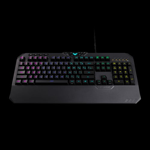 ASUS TUF Gaming K5 RGB Keyboard with Tactile Mech-Brane Key switches, Specialized Coating for Extended Durability, Spill-Resistance and Aura Sync Lighting-10044