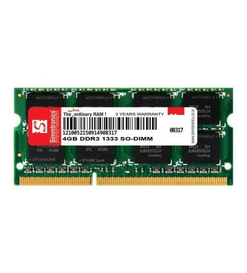 Simmtronics 4GB DDR3 Laptop RAM 1333 MHZ